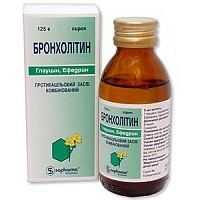 Бронхолитин при сухом кашле