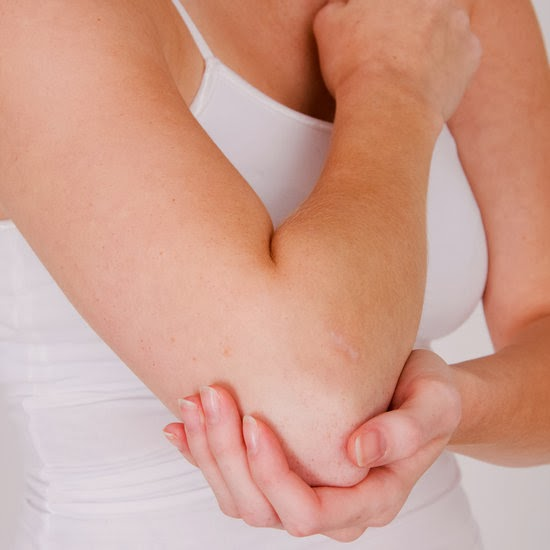 Болит локоть при сжатии кисти диаметр головки тазобедренного сустава в 1 месяц